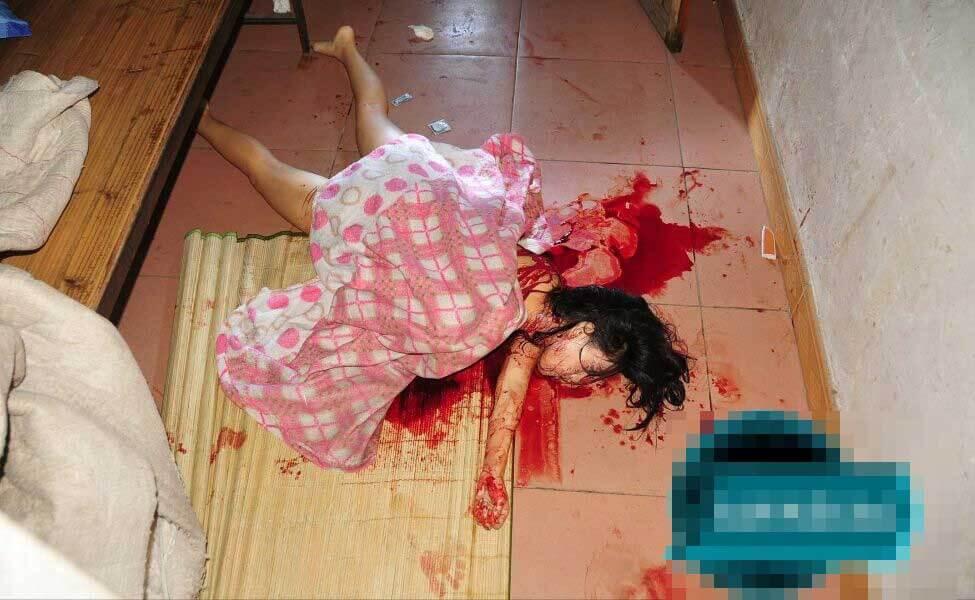 殺害された女性の死体グロ画像