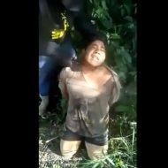 【斬首】麻薬カルテルによる処刑映像 ナイフと斧で切断し頭を放り投げるinメキシコ