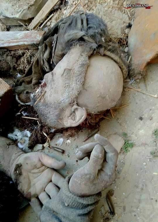 殲滅されたロシアテロリストの死体