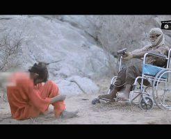 【isis グロ】車椅子に乗った兵士から銃殺される イスラム国処刑映像