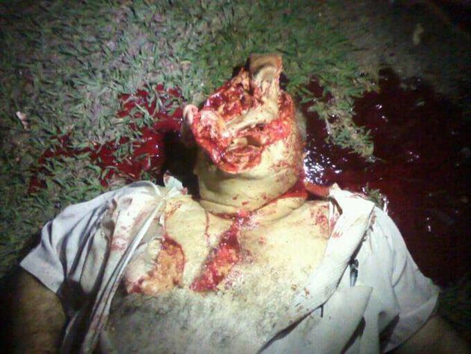 セスナ整備中にプロペラに巻き込まれて死亡した男性のグロ画像