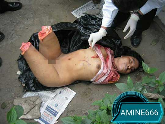 女のダルマ死体グロ画像