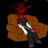 【グロ動画】人生\(^o^)/オワタ 多額の借金を背負った経営者 さらっとショットガンで頭をブチ抜く・・・