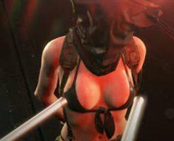 【エロ動画】メタルギアのクワイエットに拷問(性的)してみたwww ※無修正