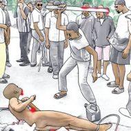 【グロ動画】無法地帯過ぎる… たとえ女でも容赦無し アフリカのモブジャスティス(私刑)がこちら・・・
