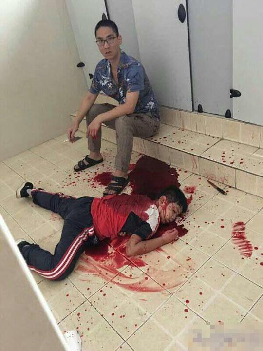 中国いじめっ子殺害した父親画像