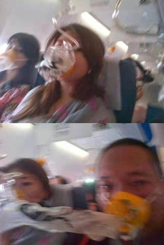墜落したインドネシアの旅客機内