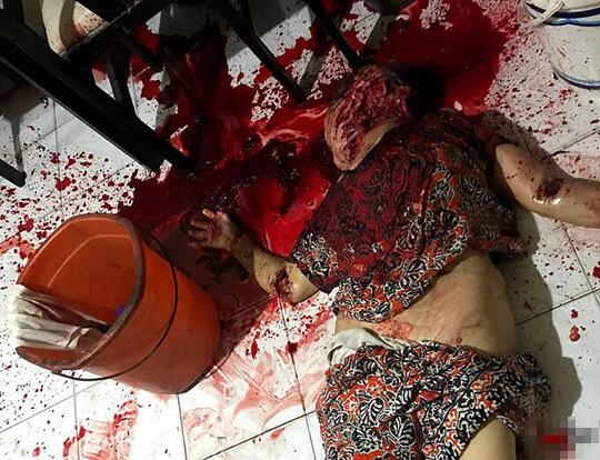 精神病の娘が母を惨殺画像