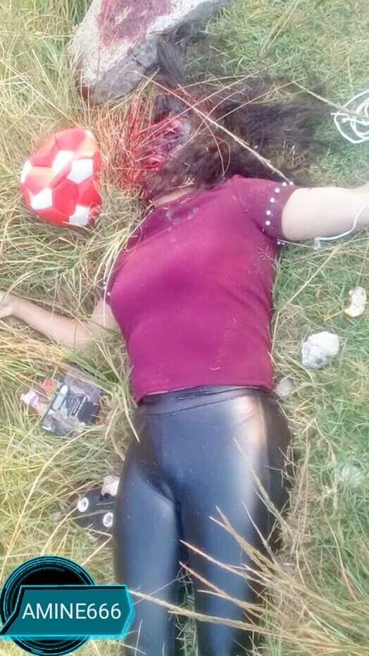 顔面を岩で潰され殺害された美女の死体がエログロい…なお自慢のおっぱいとふとももは無事な模様