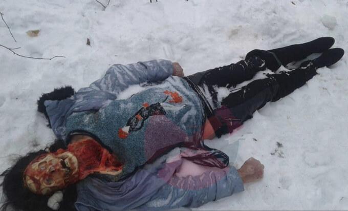 野犬に顔面食べられちゃったロシア女さん、骸骨丸出しで凍死体となって発見される・・・閲覧注意