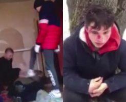 少年グループがホームレス狩り動画撮影→SNSで拡散され加害者を特定→犯人をボコボコにする私刑動画がバズるwww