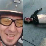 アホがバイクを足で運転しながら自撮りでヒャッハー!→事故死という当然のオチwwwww