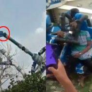 【衝撃】遊園地事故で31人死傷。絶叫マシンがポッキリ折れる瞬間と事故直後の様子…