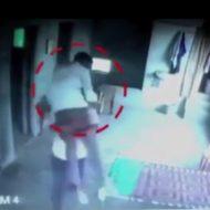 窓から人間をポイ捨てし殺害→殺人者が階下に下りて死体を確認する様子がこちら