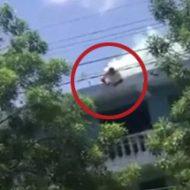 事故?自殺?男性が電線に焼かれて首がもげる鮮明な一部始終…