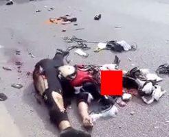 バイク事故に遭った女性の遺体が悲惨すぎる…