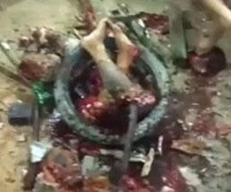 10歳の少女を犯したペド男が衆人によって処刑される…