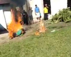 幼女を犯して殺した男、制裁として焼き殺される…