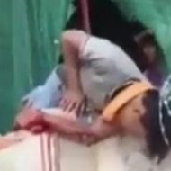 自殺に失敗したらしい男性、鉄筋が横っ腹にぶっ刺さってます…
