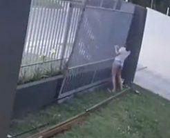 閉まらなくなった門を触っていたら外れて倒れてくるとか…