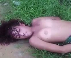 強姦され殺されてしまった女の子がまるで眠っているよう…