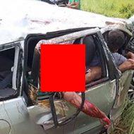ここまで壊れる車の事故って何があったんだ?後ろに座ってた男性はもう…