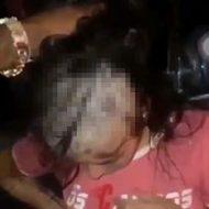 ギャングの女の子が髪の毛を刈り取られる辱めを受ける…