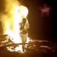 捕らえられたカルテルの男が生きたまま燃やされ悲鳴を上げる姿が…