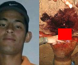 【閲覧注意】殺された青年が男たちから乱暴に首を斬られていく…