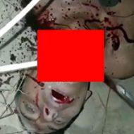 カルテルの男が殺されナイフとスコップで首を切断される映像…