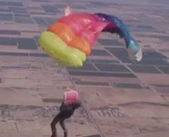これは完全に死んだ…高高度でパラシュートに問題が起きた男性…