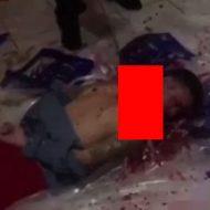 両手両足を拘束された男性が一瞬で斬首される処刑映像