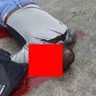 オートバイで事故り腕は千切れ脳みそが零れてしまっている男性の死体…