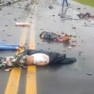 5人が死亡した車の事故現場の映像がこちら…