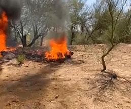 生きたまま赤々と燃える火の中で転がる男性が見ていてエグい…