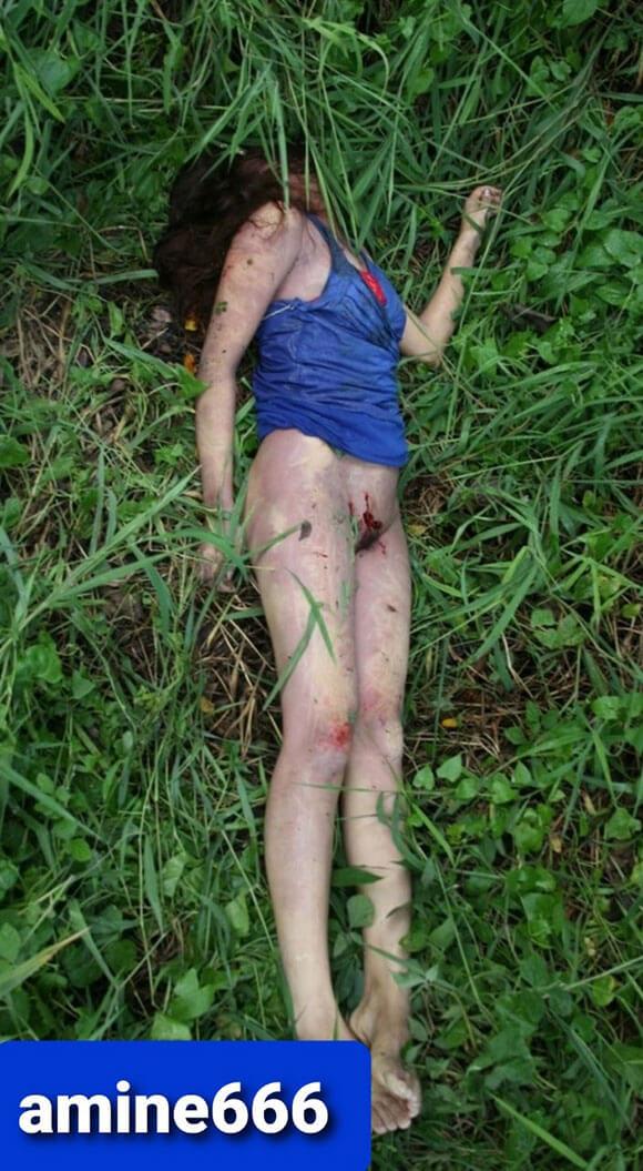 森の中でレイプされ殺されてしまった女性の無残な死体…