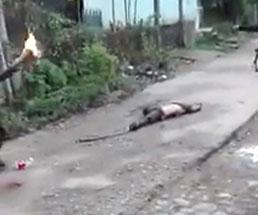 カルテルが死体にガソリンぶっかけて炎上させる所業