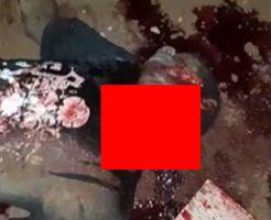 マチェーテで斬首されきれず放置された死体がグロすぎ…