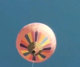 超高度の気球から落下する職員の衝撃映像