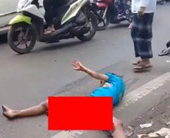 【閲覧注意】トラックに轢かれたらしい女性の状態がグロすぎ…