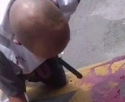 顔面にナイフをぶっ刺されて大量出血とかエグすぎぃw