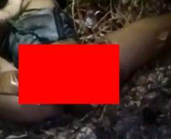 マチェーテで身体をバラバラにされている最中の女性