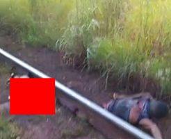 電車に轢かれて身体が真っ二つの死体ってやっぱグロすぎ…