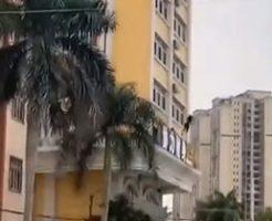 飛び降り女性の自殺映像