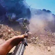 アルカイダ兵士のGoProによるリアルな襲撃映像