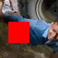 トラックのタイヤに潰され腸が飛び出た男性、病院で亡くなる…