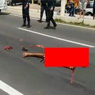 人間の身体が車に引きずられた最悪の結末がこちら…