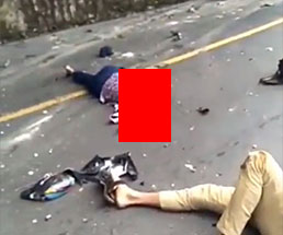 バイクで事故った男女の姿が無残すぎるんだが…