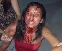 男に襲われ頭から血を流す女性の姿がホラーなんだが…