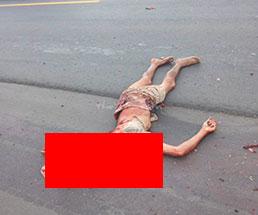 トラックに轢かれて認識不可なレベルでぺちゃんこにされた遺体